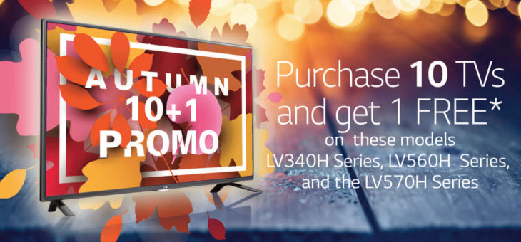 LG TV Autumn 10+1 Special – Buy 10 get 1 Free through October 31, 2017
