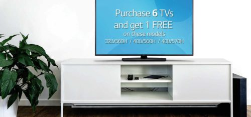 Buy 6, Get 1 Free - Limited Time Offer on LG TVs