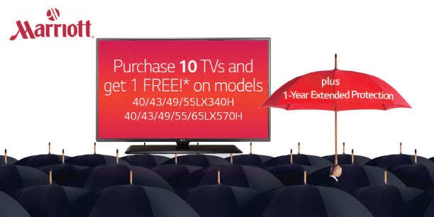 Expired:LG TV Special for Marriott Hotels until June 30, 2017