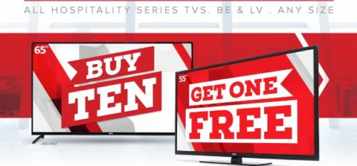 Buy 10 Any Size RCA TVs, Get 1 Free through December 20th