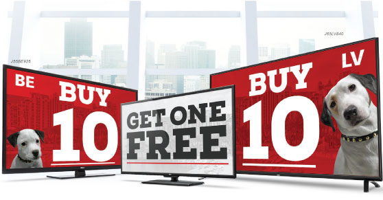 2017 Year End RCA TV Special – Buy 10, Get 1 Free