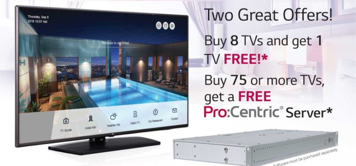Expired:Two Offers on LG TVs & Pro:Centric Servers for Best Western Hotels & Resorts