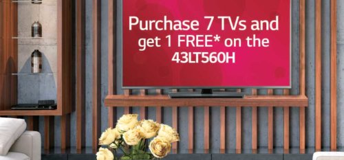 Choice Hotels special on LG Hospitality TVs: Buy 7, Get 1 Free through end of 2021