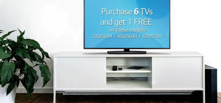 Buy 6, Get 1 Free – Limited Time Offer on LG TVs