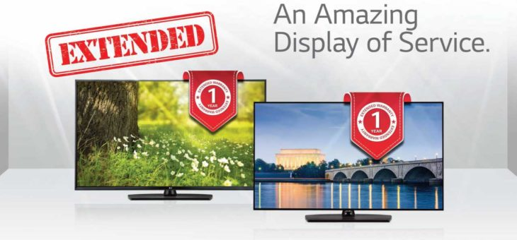 Free 1 Year Extended Warranty on select LG Hospitality TVs