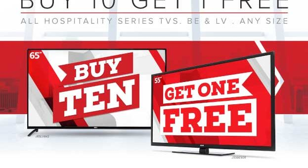 Expired:RCA TV Specials: Buy 10+1 Free, 75+ with TV mounts, 150+ Extra Year Warranty