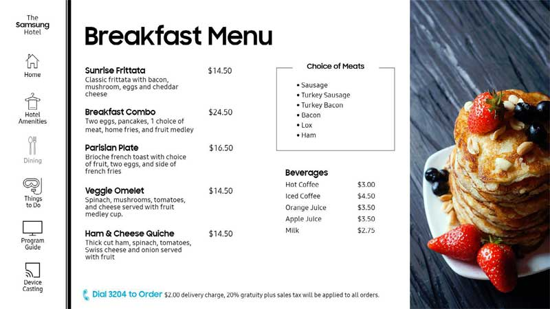 GUI Breakfast Menu